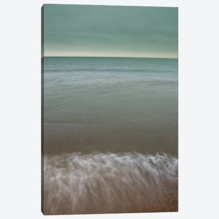 Splashing On The Sand Canvas Print #AFR57} by Assaf Frank Art Print