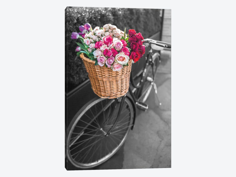 Basket Of Flowers I 1-piece Canvas Wall Art