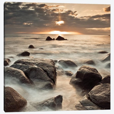 Midnight Sunrise Canvas Print #AFR73} by Assaf Frank Canvas Wall Art