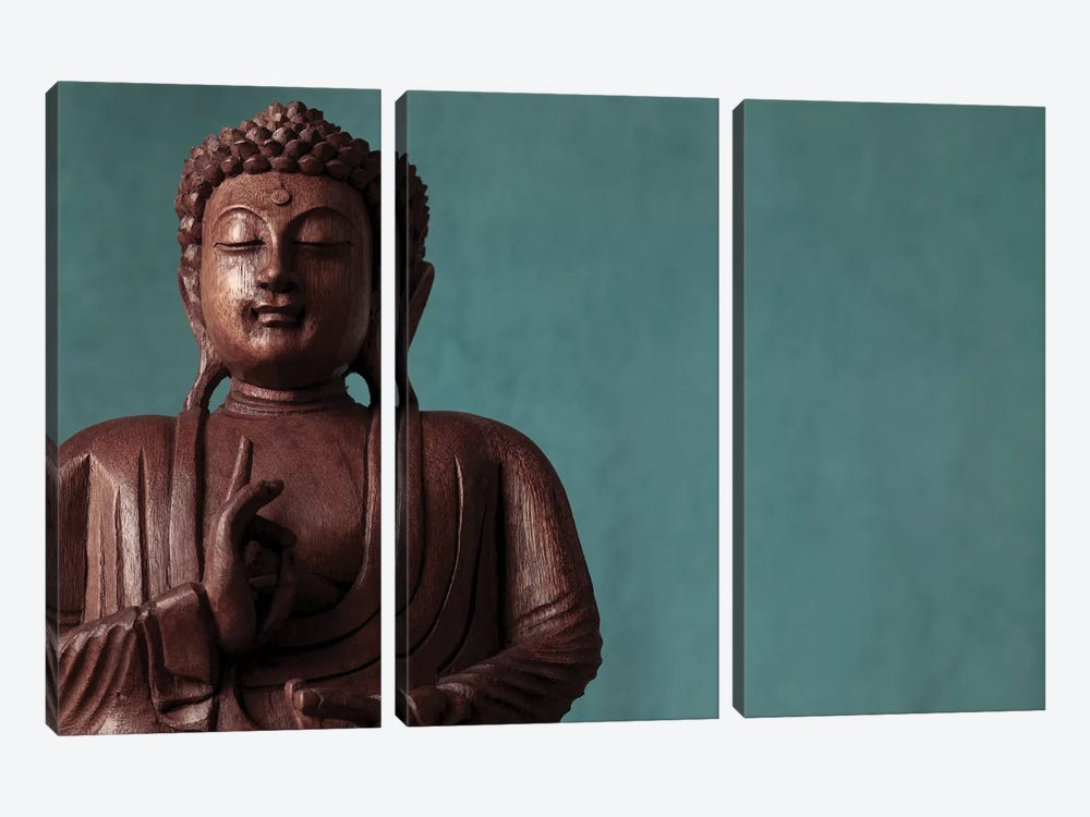Buddha III by Assaf Frank 3-piece Canvas Art Print