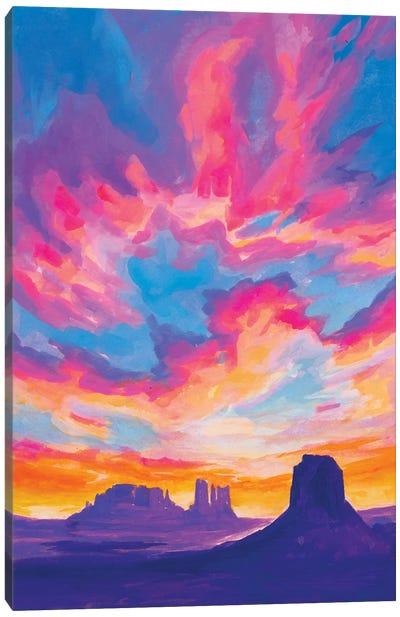 Desert Sunset Study Canvas Art Print
