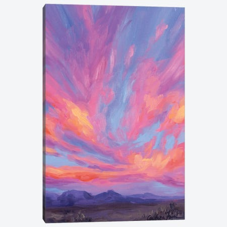 Distant Mountains Under Sherbet Skies Canvas Print #AFS14} by Andrea Fairservice Canvas Art