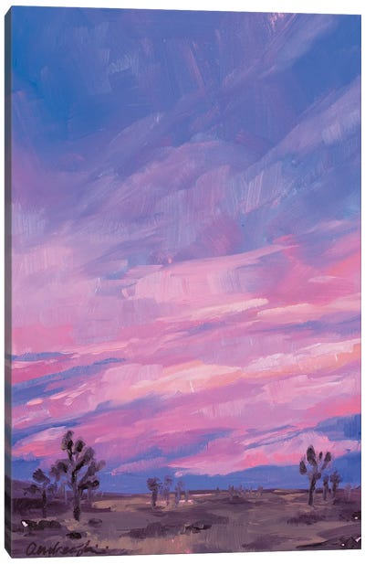Joshua Tree Cotton Candy Canvas Art Print