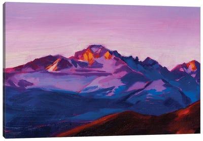 Longs Peak Sunrise Canvas Art Print