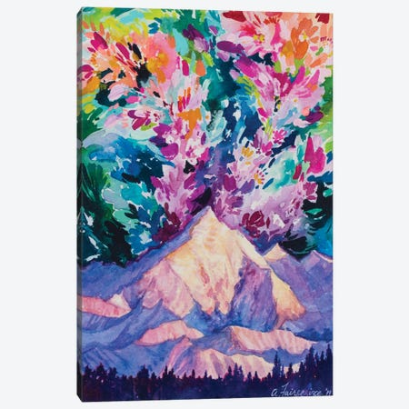 Magic Above The Mountain Canvas Print #AFS35} by Andrea Fairservice Canvas Wall Art