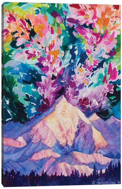 Magic Above The Mountain Canvas Art Print