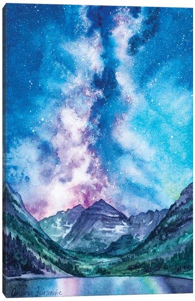Maroon Bells Milkyway Canvas Art Print