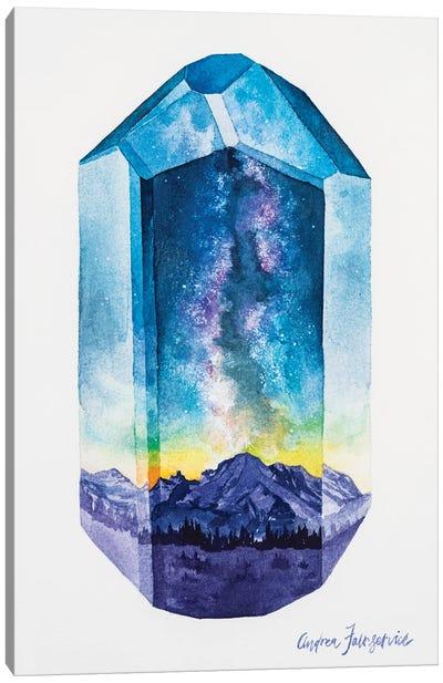 Milkyway Mountain Canvas Art Print