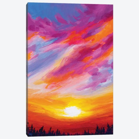 November Sunset II Canvas Print #AFS49} by Andrea Fairservice Canvas Wall Art