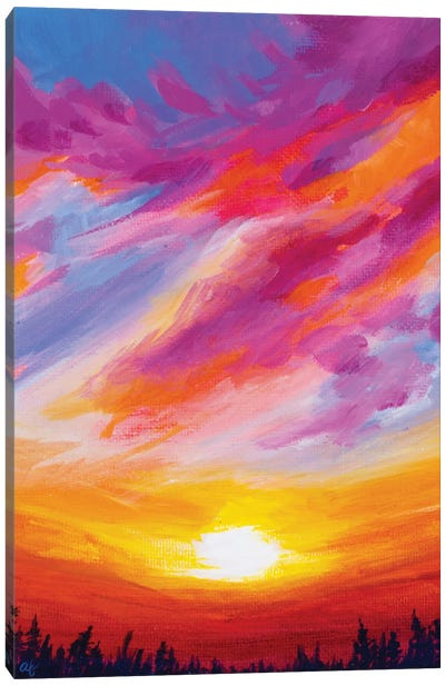 November Sunset II Canvas Art Print
