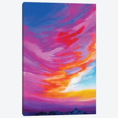 November Sunset III 3-Piece Canvas #AFS50} by Andrea Fairservice Art Print