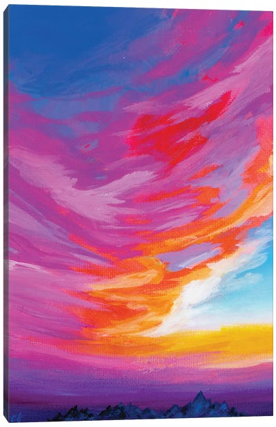 November Sunset III Canvas Art Print