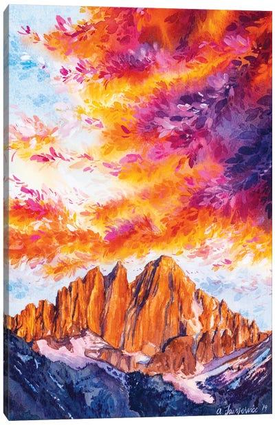 On Fire Canvas Art Print