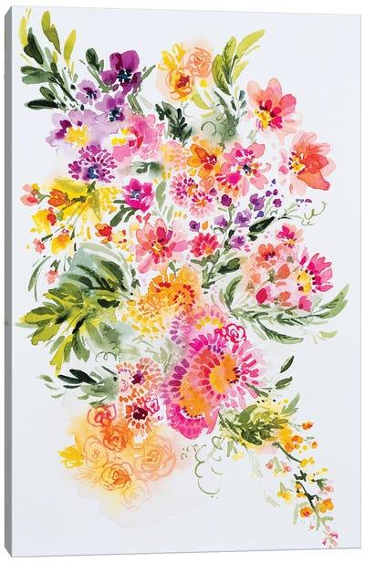 Playful Floral Canvas Art Print