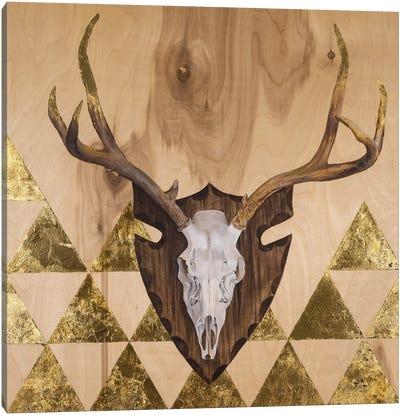 Buck Skull Canvas Art Print