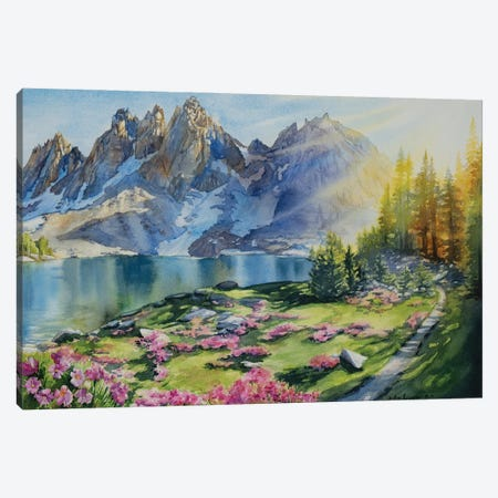 Trail To Kearsarge Lakes Canvas Print #AFS69} by Andrea Fairservice Canvas Wall Art