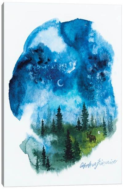 Cresent Moon Canvas Art Print