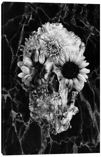 Floral Skull II Canvas Art Print