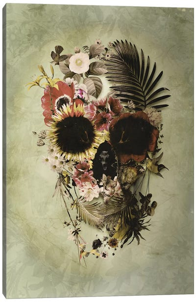 Garden Skull Light Canvas Art Print