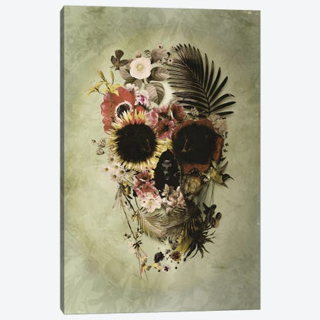 Garden Skull Light Canvas Print #AGC10} by Ali Gulec Canvas Art
