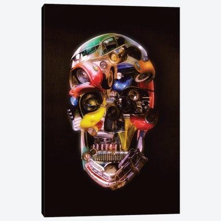Hotrod Skull Dark Canvas Print #AGC110} by Ali Gulec Canvas Art