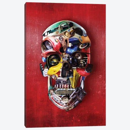 Hotrod Skull Port Canvas Print #AGC111} by Ali Gulec Canvas Wall Art
