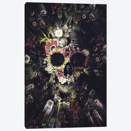 Garden Skull Canvas Print #AGC11} by Ali Gulec Canvas Wall Art