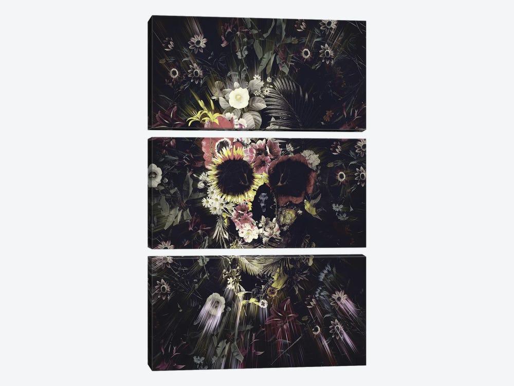 Garden Skull by Ali Gulec 3-piece Canvas Art