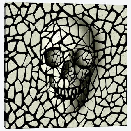 Mosaic Skull Mono Canvas Print #AGC125} by Ali Gulec Canvas Wall Art