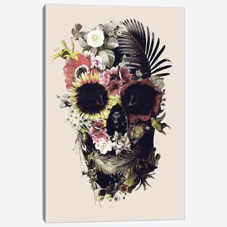 Garden Skull Beige Canvas Print #AGC128} by Ali Gulec Canvas Art Print