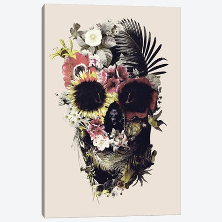 Garden Skull Beige 3-Piece Canvas #AGC128} by Ali Gulec Canvas Art Print