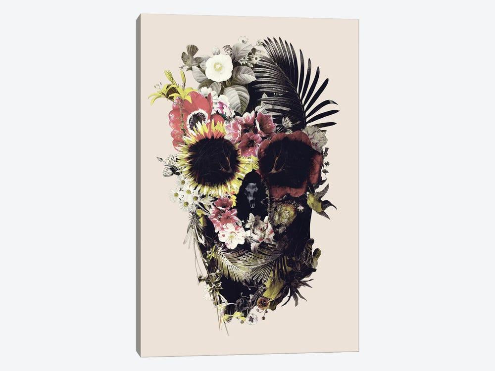 Garden Skull Beige Canvas Wall Art By Ali Gulec Icanvas