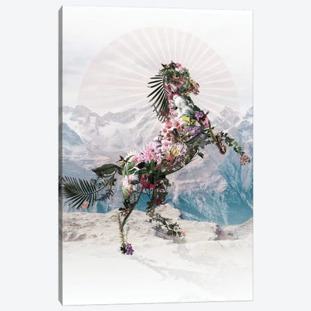 Floral Horse Canvas Print #AGC133} by Ali Gulec Canvas Artwork