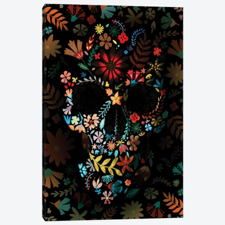 Flowery Skull 3-Piece Canvas #AGC135} by Ali Gulec Art Print