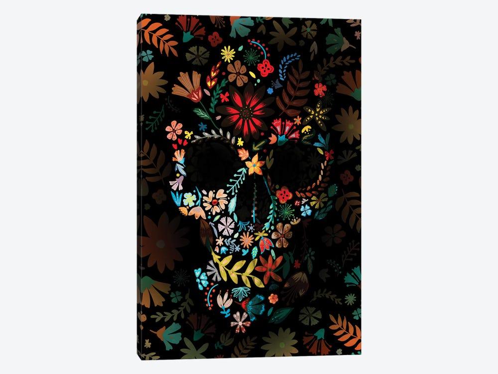 Flowery Skull by Ali Gulec 1-piece Canvas Art