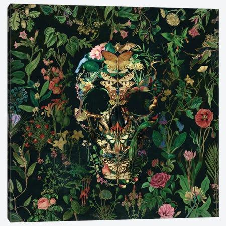 Papillion Skull Square Canvas Print #AGC139} by Ali Gulec Canvas Artwork