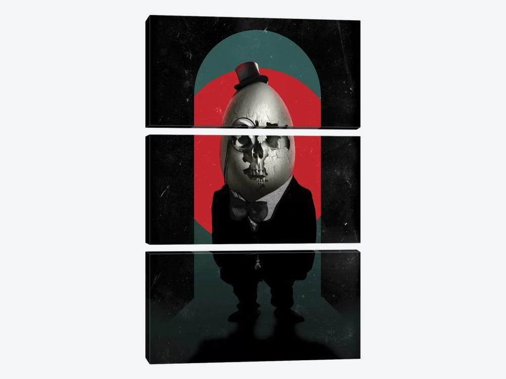 Humpty Dumpty by Ali Gulec 3-piece Canvas Print