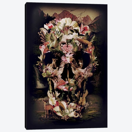 Jungle Skull Canvas Print #AGC18} by Ali Gulec Canvas Art
