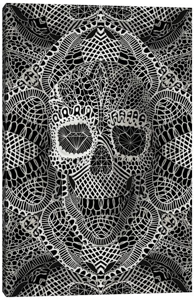 Lace Skull Canvas Print #AGC20