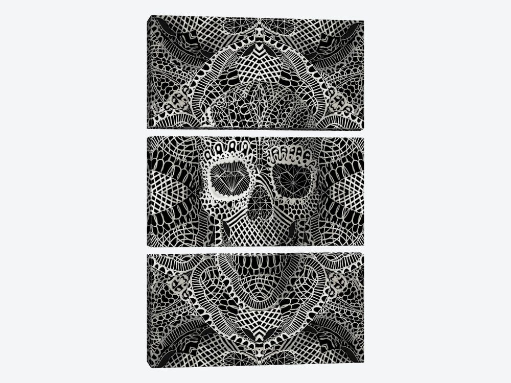 Lace Skull by Ali Gulec 3-piece Canvas Artwork