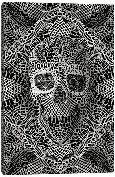 Lace Skull Canvas Art Print