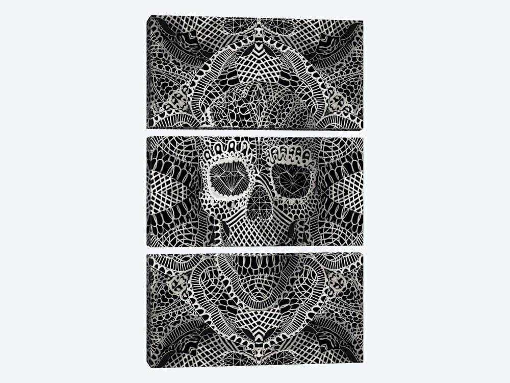 Lace Skull by Ali Gulec 3-piece Canvas Artwork