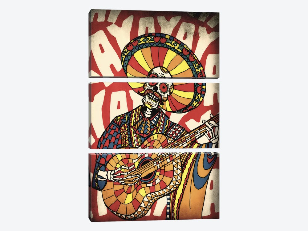 Mariachi by Ali Gulec 3-piece Canvas Art Print