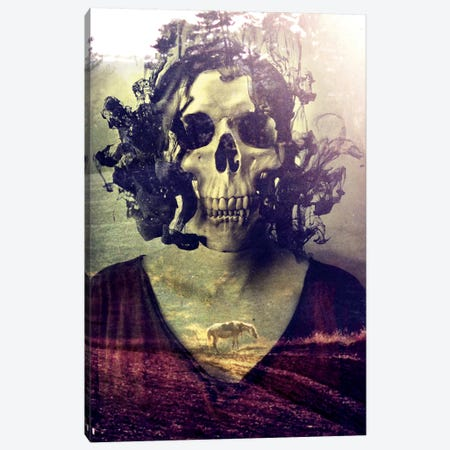 Miss Skull Canvas Print #AGC24} by Ali Gulec Canvas Art