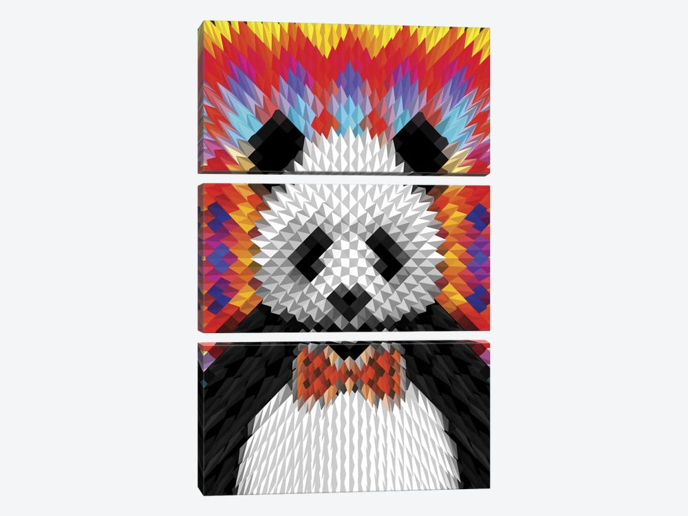 Panda by Ali Gulec 3-piece Art Print