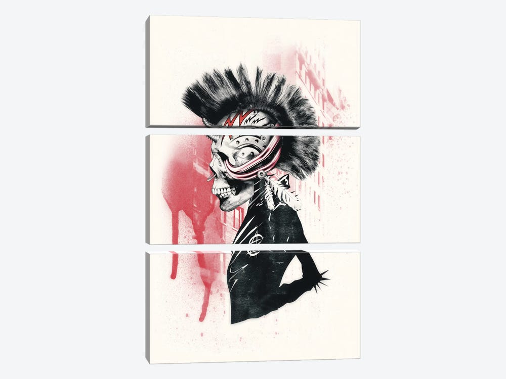 Punk by Ali Gulec 3-piece Canvas Art