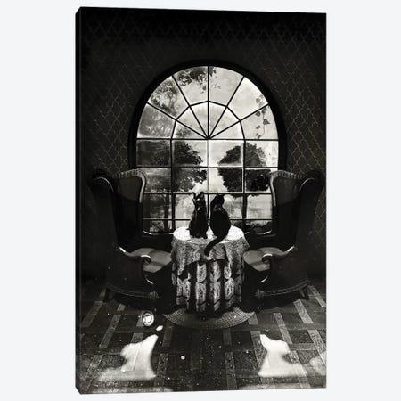 Room Skull B/W Canvas Print #AGC29} by Ali Gulec Art Print