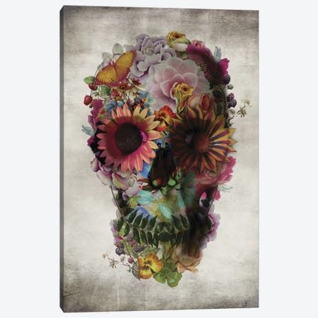 Skull #2 Canvas Print #AGC33} by Ali Gulec Canvas Wall Art