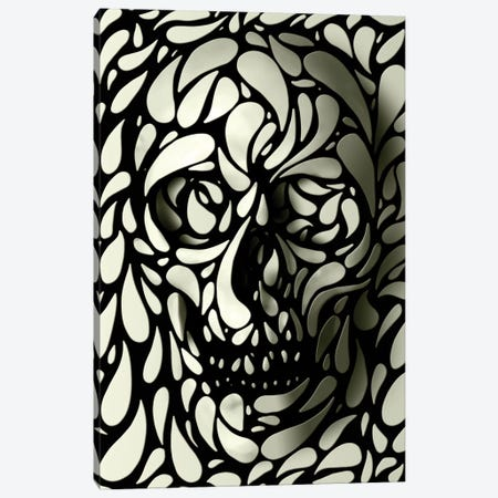Skull #4 Canvas Print #AGC34} by Ali Gulec Art Print