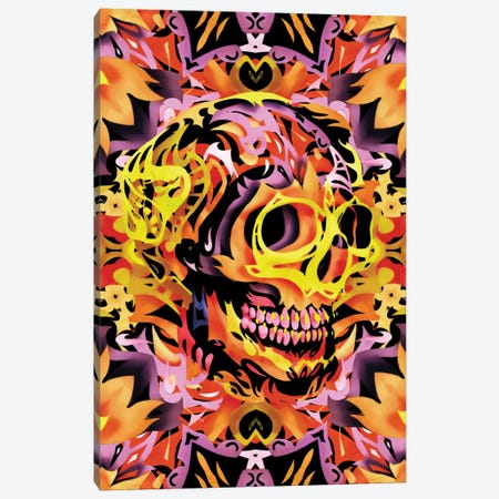 Skull V 3-Piece Canvas #AGC35} by Ali Gulec Canvas Print